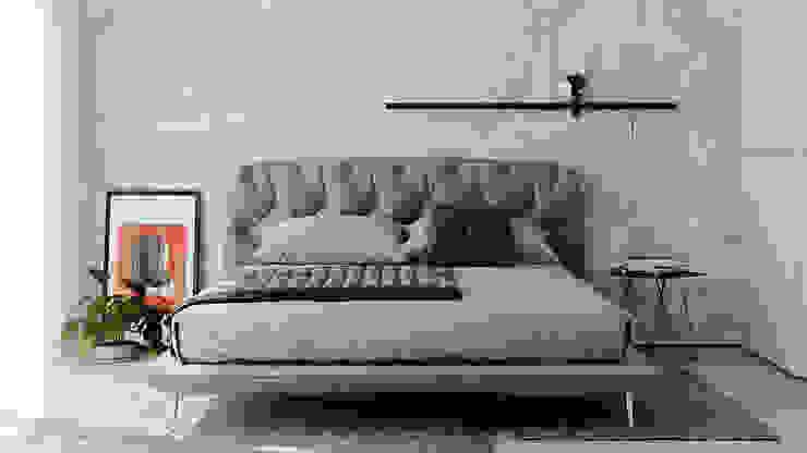 Интерьер спальни Спальня в стиле лофт от BeSense Studio Лофт