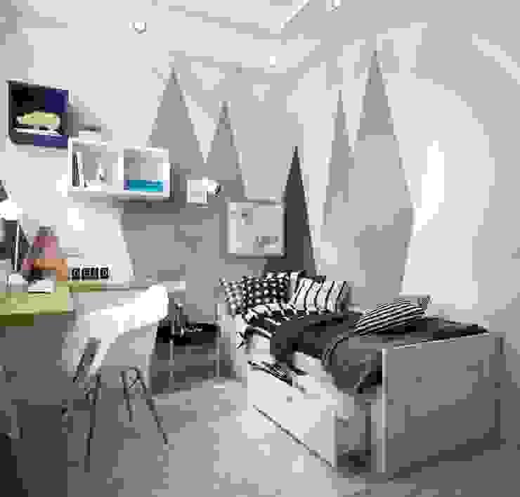 Небольшая квартира в современном стиле: Детские комнаты в . Автор – Физ. Лицо, Эклектичный