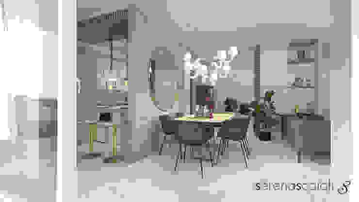 Living openspace: Sala da pranzo in stile  di serenascaioli_progettidinterni, Moderno