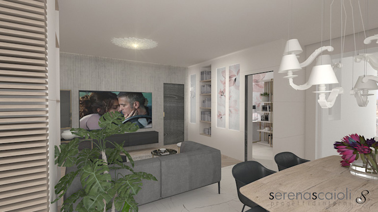 Living....il salotto: Soggiorno in stile  di serenascaioli_progettidinterni, Moderno