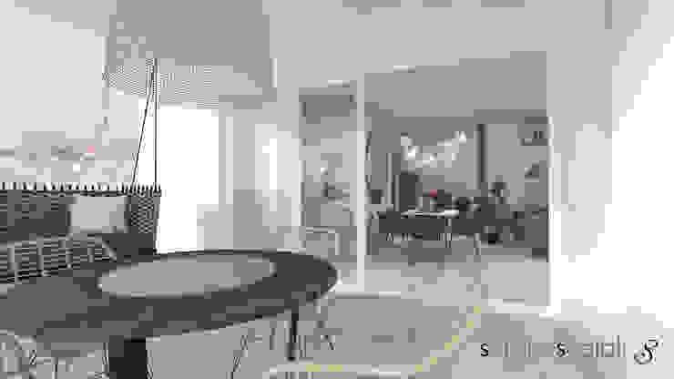 Vista dalla terrazza: Terrazza in stile  di serenascaioli_progettidinterni, Moderno