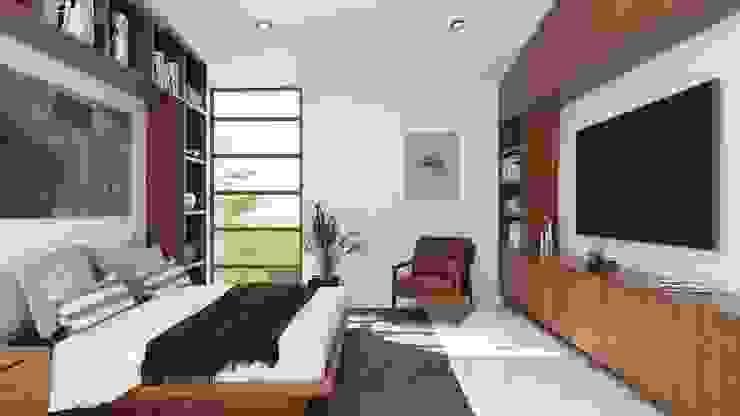Recámara principal Dormitorios minimalistas de de Silva Arquitectos Minimalista Madera Acabado en madera