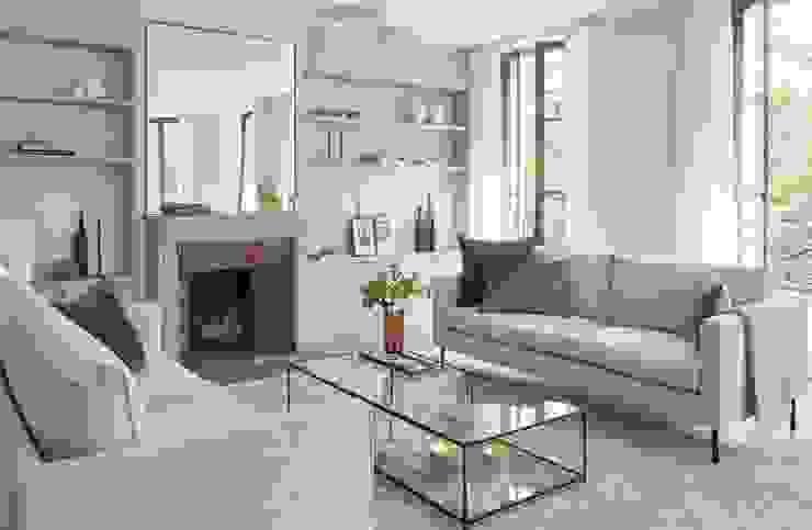 Lichelle Silvestry Interiors Salas de estilo moderno Blanco