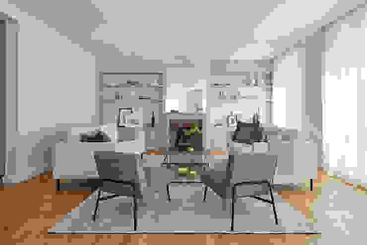 Lichelle Silvestry Interiors Salas de estilo moderno Gris