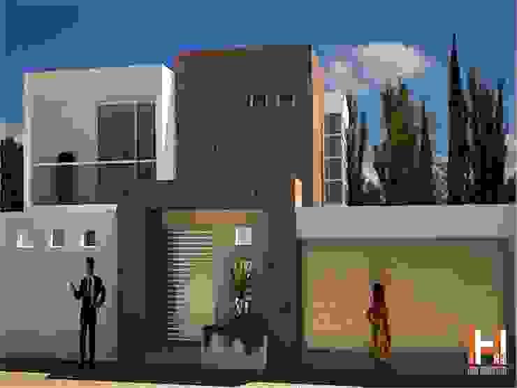 FACHADA CON JARDINERA Casas modernas de HHRG ARQUITECTOS Moderno