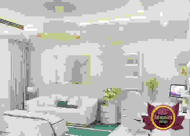 Light Green Bedroom Furniture in Dubai by Luxury Antonovich Design