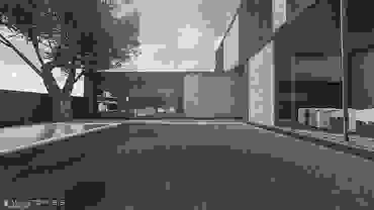 Jardins minimalistas por Anastomosis Design Lab Minimalista
