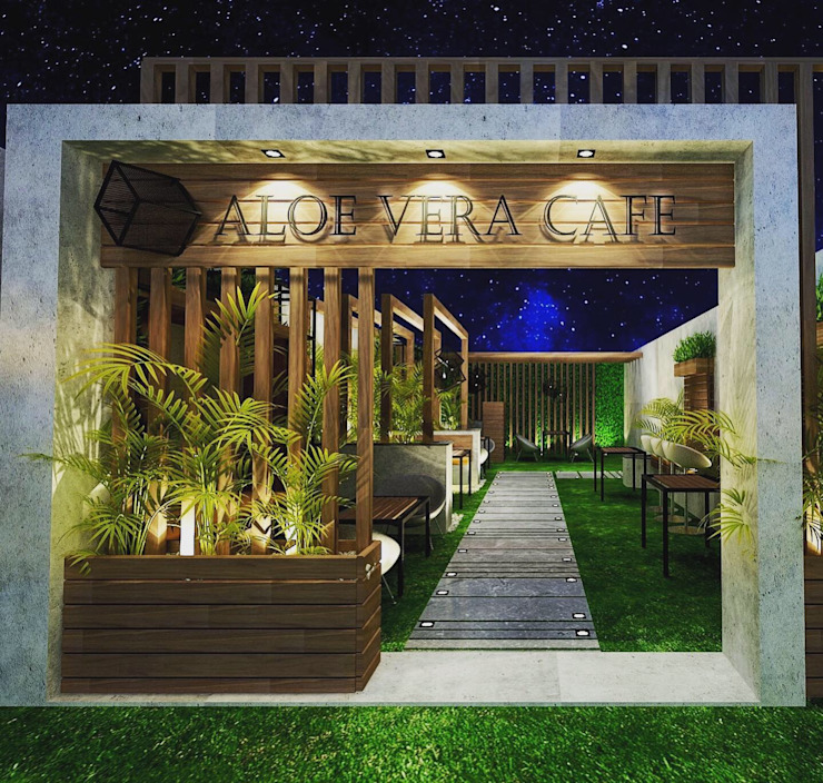 Outdoor Cafe (ALeo Vera Cafe) by Micasa Design Modern Stone