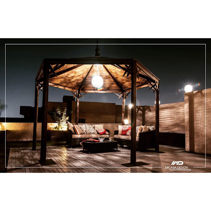 Outdoor Seating Area by Micasa Design Modern Wood Wood effect