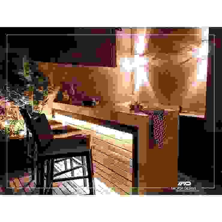 Outdoor Bar & stools by Micasa Design Modern Wood Wood effect