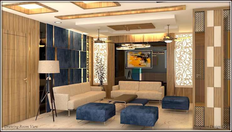 Living Room Inception Design Cell Modern living room Solid Wood Wood effect