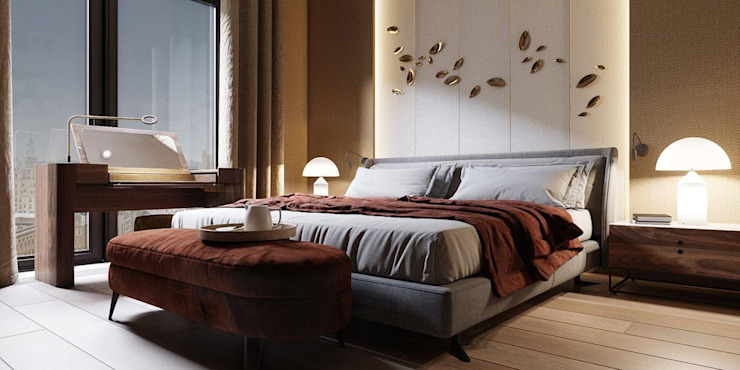4 BHK Penthouse Inception Design Cell Modern style bedroom