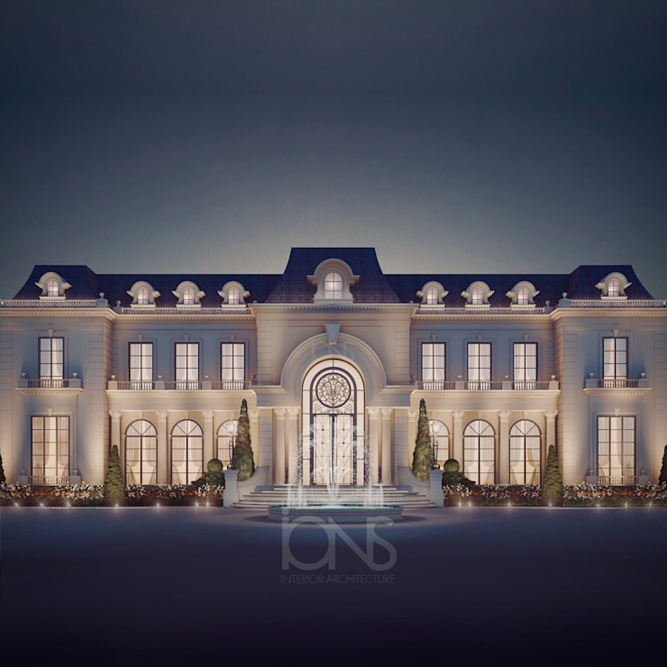 Luxurious Home Design Collection : Royal Palace in Neoclassic Architecture Style IONS DESIGN Casas clássicas Pedra Branco