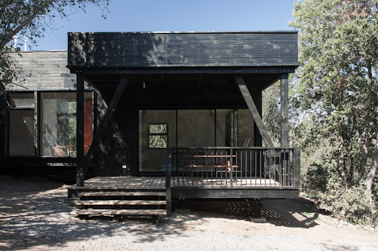 Modern Terrace by MACIZO, ARQUITECTURA EN MADERA Modern Wood Wood effect