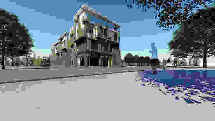 民宿外觀(植生牆模擬) 根據 尋樸建築師事務所 現代風