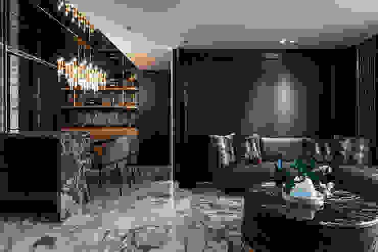 電視牆 现代客厅設計點子、靈感 & 圖片 根據 你你空間設計 現代風 大理石
