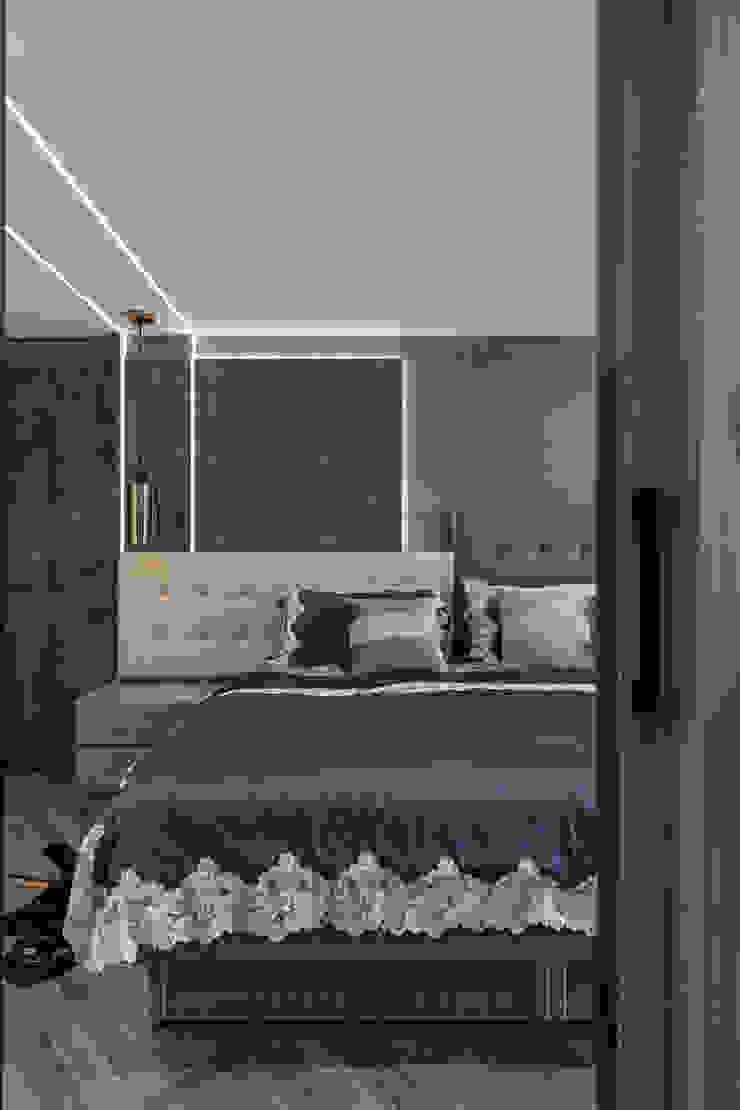 主臥床頭 根據 你你空間設計 現代風 塑木複合材料