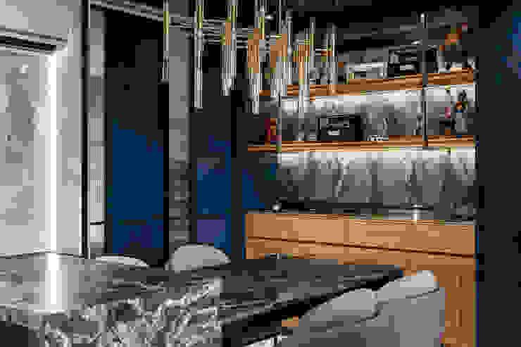 客餐廳端景櫃 根據 你你空間設計 現代風 大理石