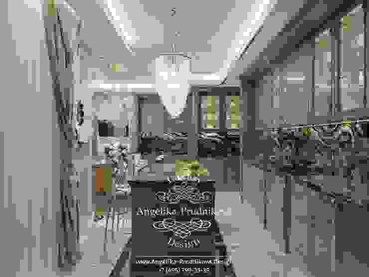 Дизайн-проект интерьера квартиры в стиле ар-деко в ЖК Золотые Ключи-2 Кухня в классическом стиле от Дизайн-студия элитных интерьеров Анжелики Прудниковой Классический