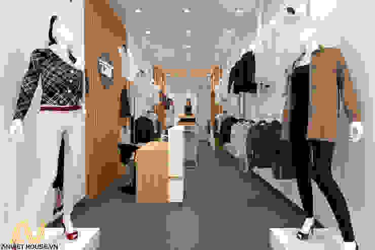 Thiết kế shop quần áo nữ 35m2: hiện đại  by An Viet Trading and Interior Service Joint Stock Company, Hiện đại