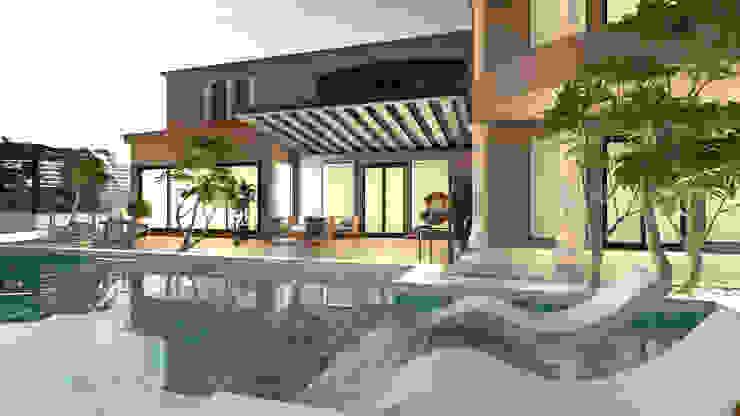 Pool deck من Saif Mourad Creations حداثي