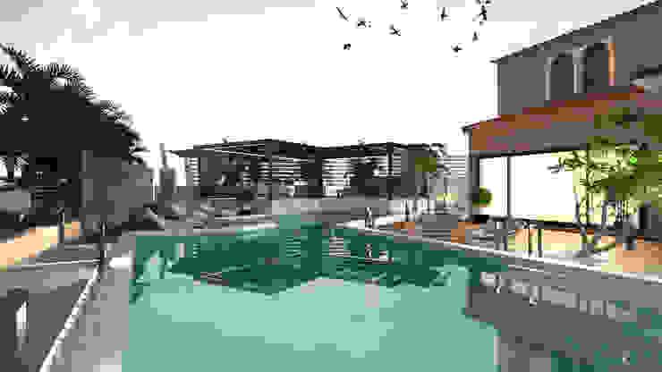Glass house من Saif Mourad Creations حداثي