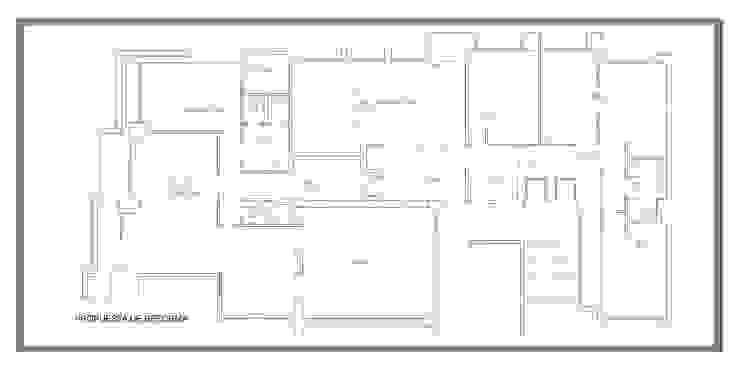 Plano de nueva distribución de arQmonia estudio, Arquitectos de interior, Asturias Minimalista