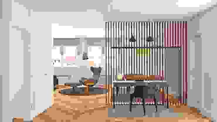 HALL DE ENTRADA Pasillos, vestíbulos y escaleras de estilo minimalista de arQmonia estudio, Arquitectos de interior, Asturias Minimalista
