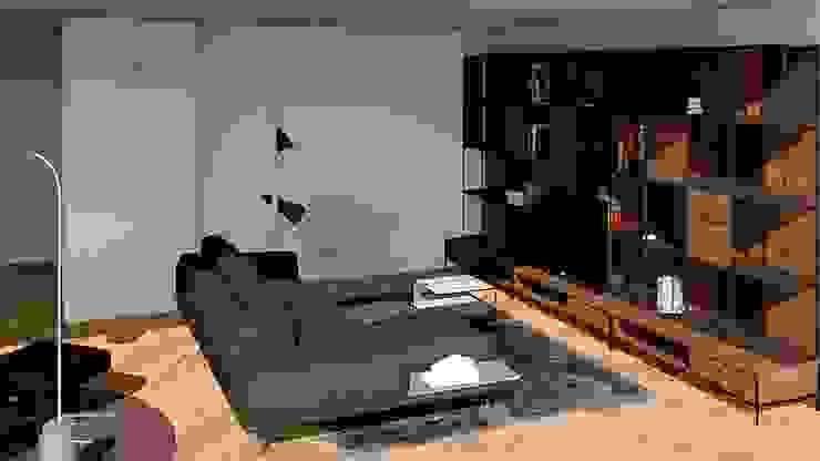 SALÓN. ZONA TV Salones de estilo minimalista de arQmonia estudio, Arquitectos de interior, Asturias Minimalista