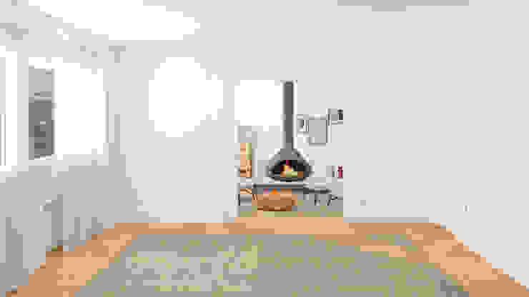 LA SALA DE LA CHIMENEA Salones de estilo minimalista de arQmonia estudio, Arquitectos de interior, Asturias Minimalista