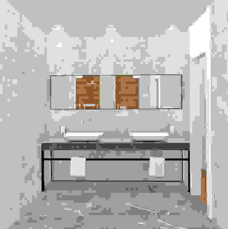 BAÑO Baños de estilo minimalista de arQmonia estudio, Arquitectos de interior, Asturias Minimalista
