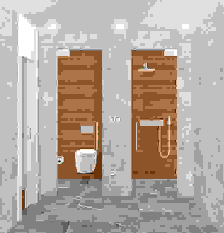ZONAS INDEPENDIENTES Baños de estilo minimalista de arQmonia estudio, Arquitectos de interior, Asturias Minimalista