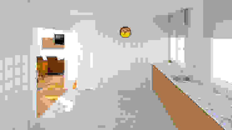 COCINA BIEN COMUNICADA Cocinas de estilo minimalista de arQmonia estudio, Arquitectos de interior, Asturias Minimalista