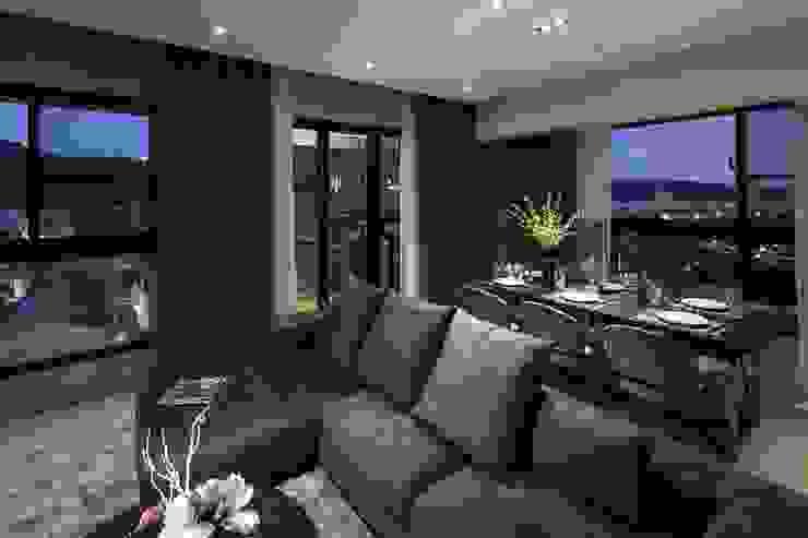 堅山-仰翠 现代客厅設計點子、靈感 & 圖片 根據 雅群空間設計 現代風