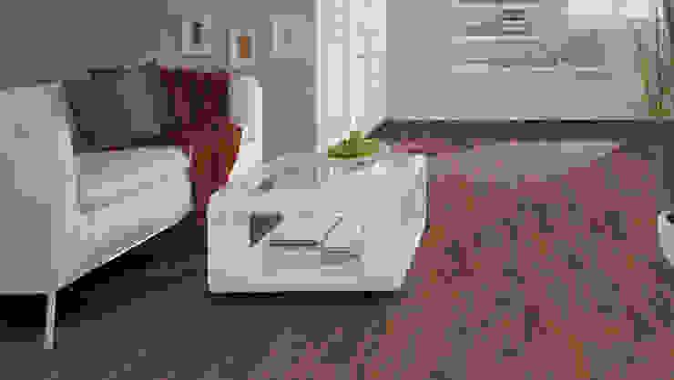 Wooden flooring Rolling-logs Modern living room Tiles Brown
