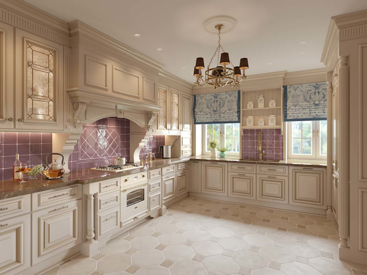 Кухня в доме в Аносино. Кухня в классическом стиле от MARION STUDIO Классический