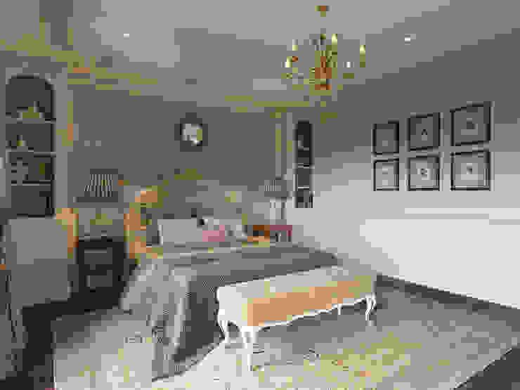 Женская спальня в доме в Аносино. MARION STUDIO Спальня в классическом стиле
