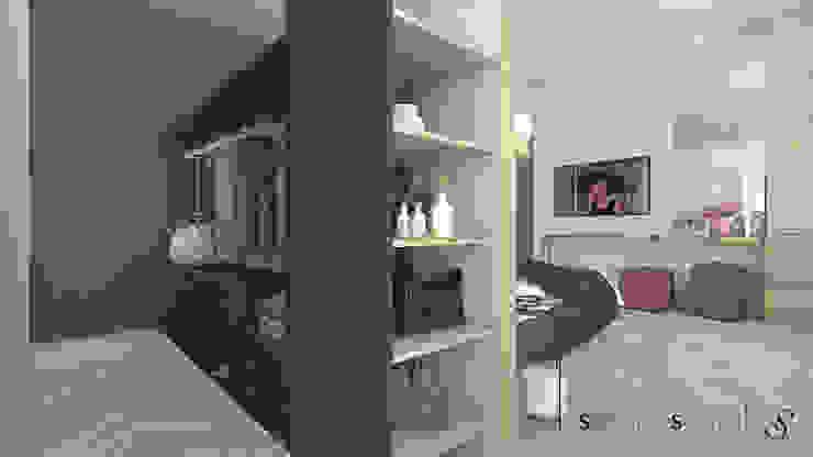 Armadio e Cabina: Camera da letto in stile  di serenascaioli_progettidinterni, Moderno