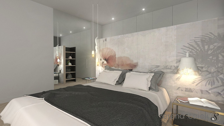 Testiera letto: Camera da letto in stile  di serenascaioli_progettidinterni, Moderno