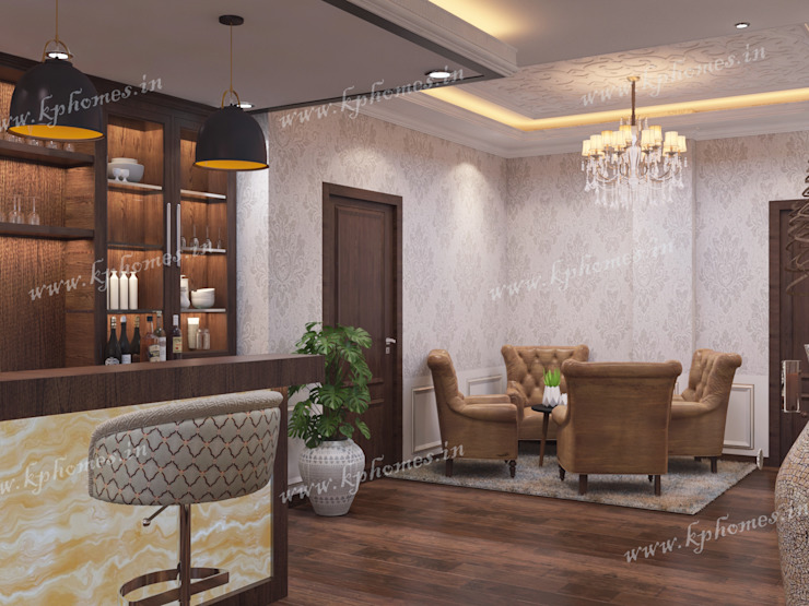 Lounge Space Colonial style living room by Kphomes Colonial