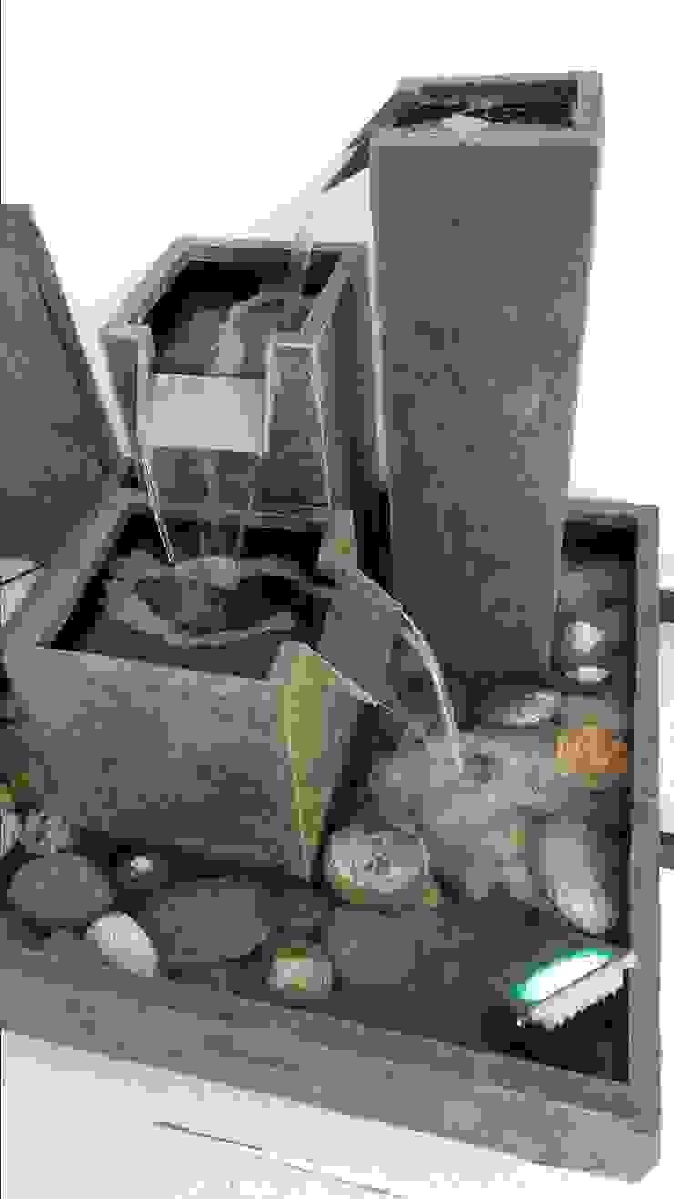 Novedosos diseños de Fuentes de agua con escalas de Creart Acabados Moderno Piedra