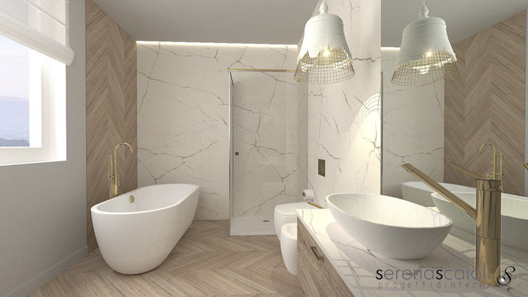 Bagno....con vasca: Bagno in stile  di serenascaioli_progettidinterni, Moderno
