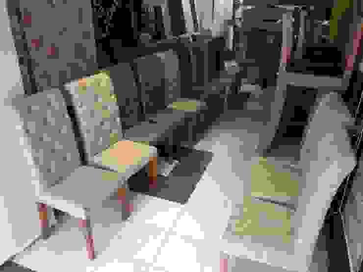 Sillas para bar corporativo de CMS Mobiliario Clásico Textil Ámbar/Dorado
