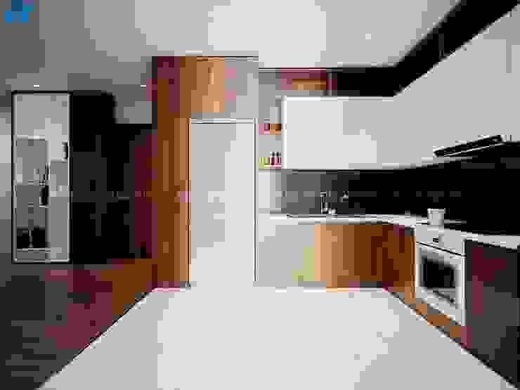 Thiết kế nội thất căn hộ cao cấp ECO GREEN SAI GON – 97m2 – 3 phòng ngủ bởi Công ty TNHH Nội Thất Mạnh Hệ Bắc Âu Gỗ Wood effect