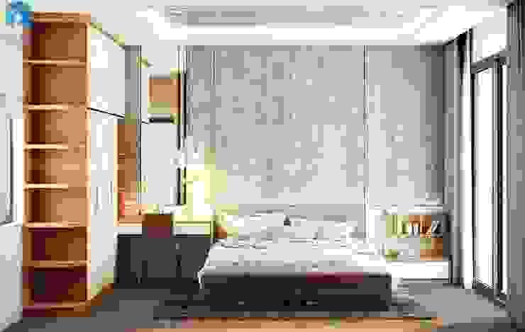 Thiết kế nội thất căn hộ cao cấp ECO GREEN SAI GON – 97m2 – 3 phòng ngủ Phòng ngủ phong cách hiện đại bởi Công ty TNHH Nội Thất Mạnh Hệ Hiện đại