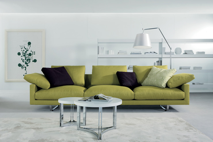SOFÁS de CMS Mobiliario Moderno Textil Ámbar/Dorado