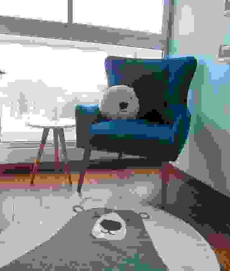 Proyecto entregado - Dormitorio de Bebé de NF Diseño de Interiores Escandinavo