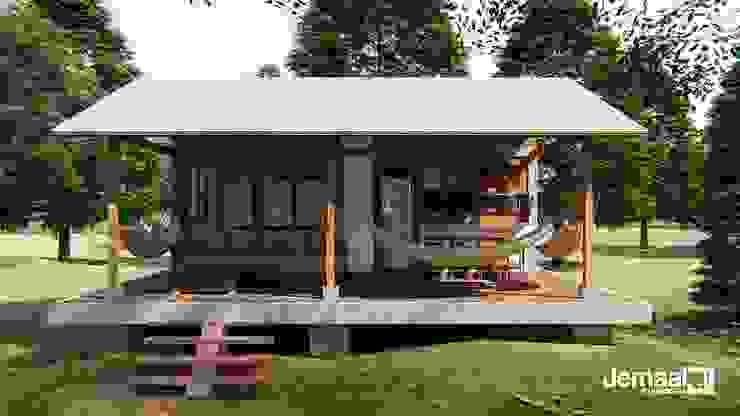 PPC-SCDM1 jemaal arquitectos Casas de campo Madera Acabado en madera