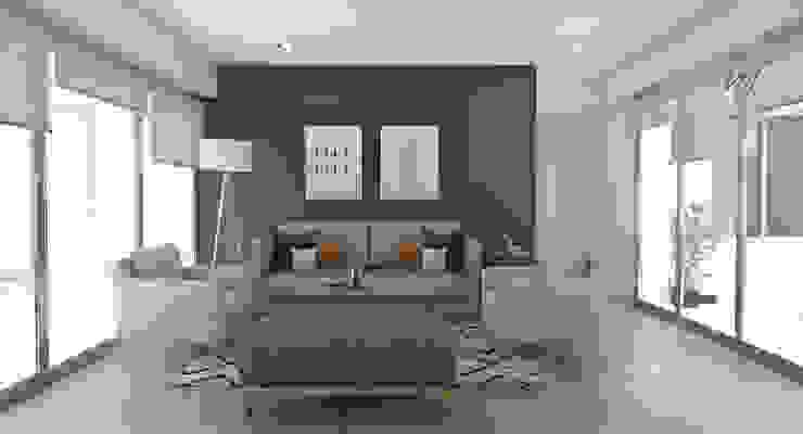 Propuesta Sala Principal de NF Diseño de Interiores Escandinavo