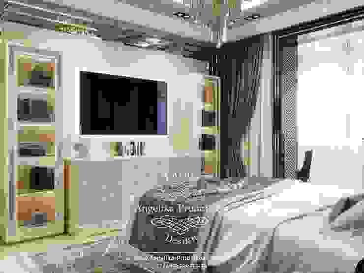 Дизайн-проект интерьера квартиры в стиле модерн в ЖК Донской Олимп Спальня в стиле модерн от Дизайн-студия элитных интерьеров Анжелики Прудниковой Модерн